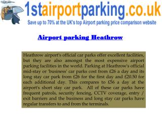 Parking at Heathrow Airport