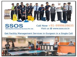 Get facility management services in Gurgaon in a single call