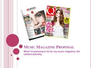 Music Magazine Proposal