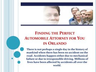 Finding the Perfect Automobile Attorney for You in Orlando