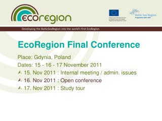 EcoRegion Final Conference