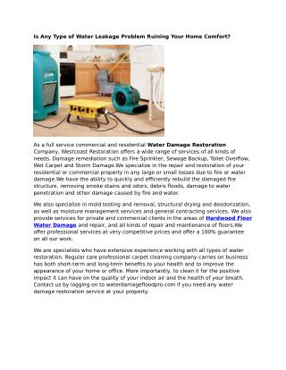 San Fernando Valley Water Damage