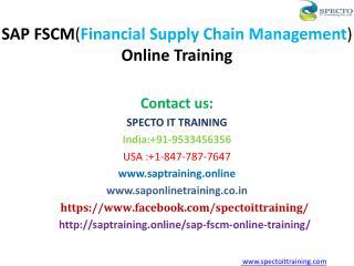 SAP Financial Supply Chain Management Online Training