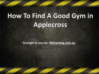 How To Find A Good Gym in Applecross