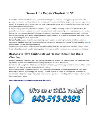 Sewer Repair Charleston SC