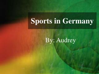 Sports in Germany