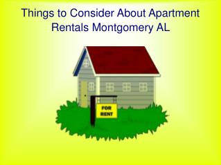 Searching For Apartment Rentals in Montgomery AL
