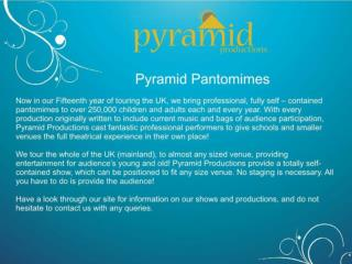 Traditional Pantomimes School Shows In UK