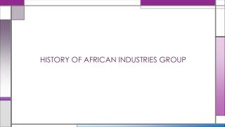 African Industries manufactured steel