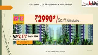 Nirala Aspire 2/3/4BHK Affordable Homes in Noida Extension
