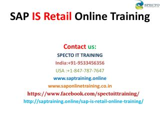 SAP IS RETAIL ONLINE TRAINING IN USA,UK