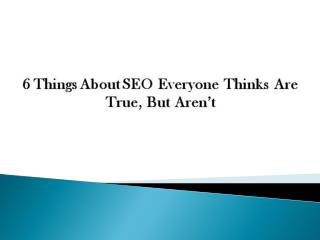 Common SEO Myths Undermining Your Marketing Efforts