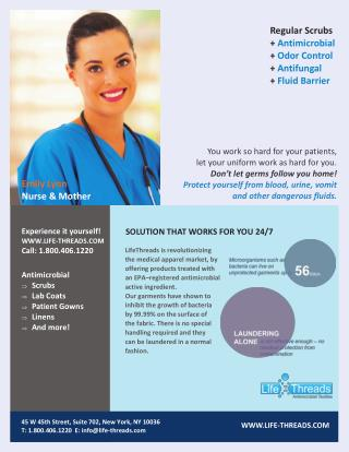 LifeThreads Brochure for Nurses   Scrubs