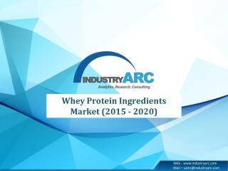 Insights, market trends, opportunities from the Whey Protein Ingredients Market