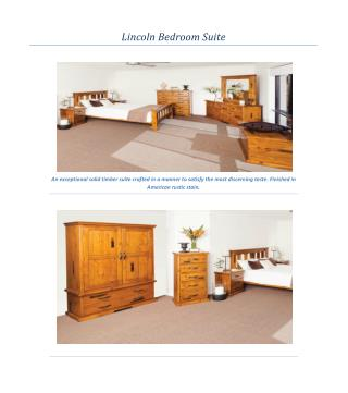 Lincoln Bedroom Suite