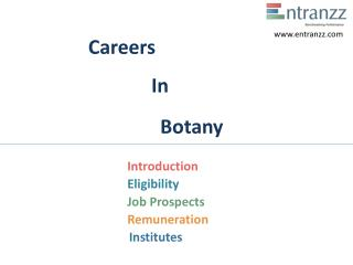Careers In Botany