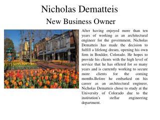 Nicholas Dematteis New Business Owner