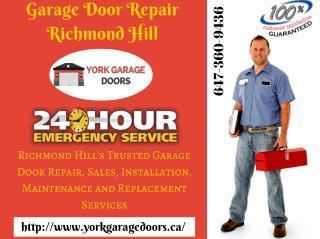 Garage Door Repair Richmond Hill, Maintenance, opener & Installation Services