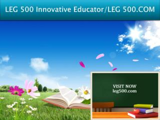 LEG 500 Innovative Educator/LEG 500.COM