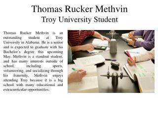 Thomas Rucker Methvin Troy University Student