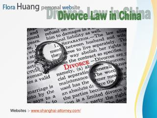 Find Out the Reputable Divorce Lawyers in China