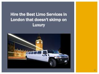 London Limo Hire Service | TMJ Business Enterprise