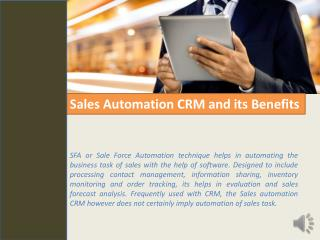 Sales Automation CRM, Easy Marketing Automation