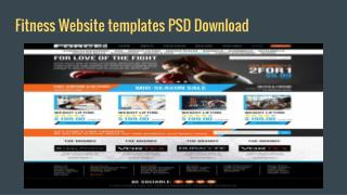 Get best free fitness website templates