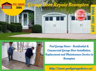 Residential and Commercial Garage Door Installation & Repair Services in Brampton