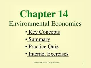 Chapter 14  Environmental Economics