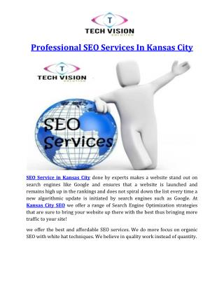 Professional SEO Services In Kansas City