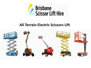 All Terrain Electric Scissors Lift - Brisbane Scissor Lift Hire