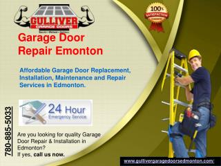 Garage Door Repair, Installation, Maintenance & Replacement Services in Edmonton