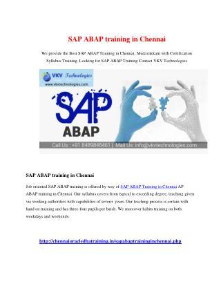 SAP ABAP Training in Chennai