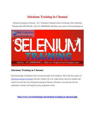 Selenium Training in Chennai