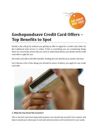 Goshopandsave Credit Card Offers