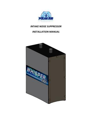 Intake Noise Suppressor Installation Manual by Eaton Compressor