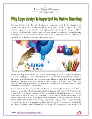 Why Logo design is important for Online Branding