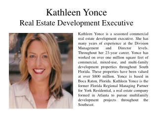 Kathleen Yonce Real Estate Development Executive