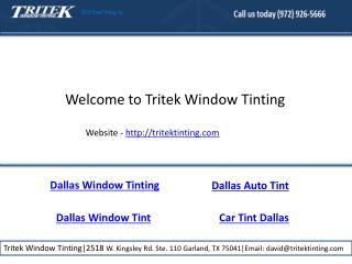Dallas residential window tinting