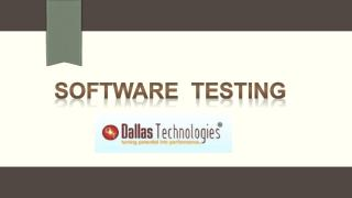 Software Testing Training at Dallas Technologies