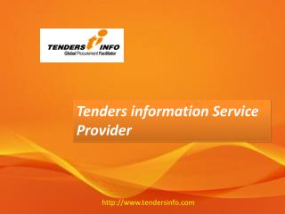 Tenders | Procurement News - Tendersinfo