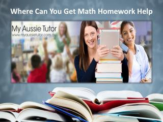 Where Can You Get Math Homework Help