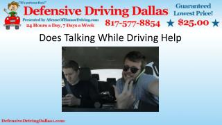 Does Talking While Driving Help