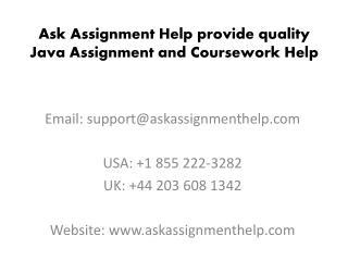Java Assignment Help | Java Coursework Help | Java Homework Help