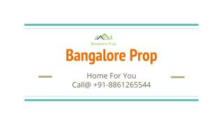 Bangalore Pre-launch Project 2016