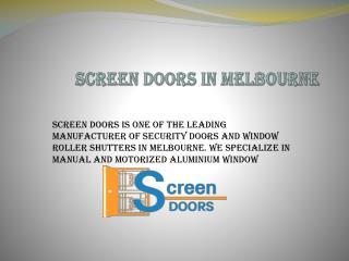 Screen Doors in Melbourne