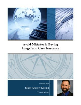 Avoid Mistakes in Buying LTC Insurance