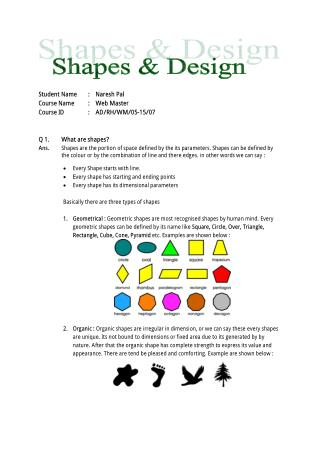 shapes and design interview question answer