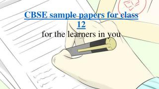 CBSE sample papers for class 12 online